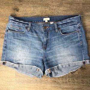 JCrew Cuffed Jeans Shorts